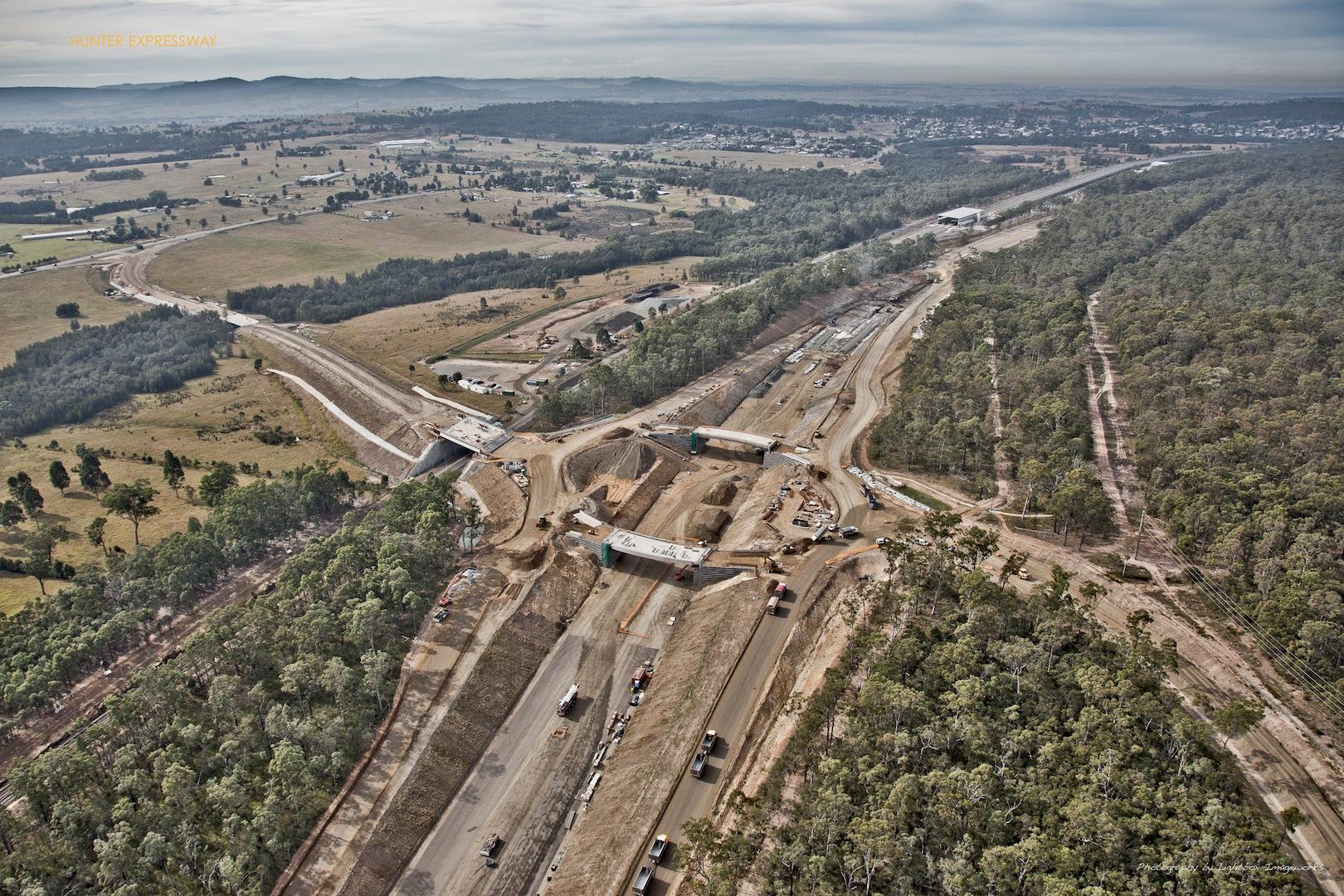 Hunter Expressway Freeway Constrcution